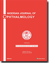 Nigerian Journal of Ophthalmology : Table of Contents